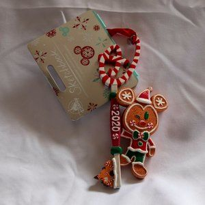 Mickey Mouse Gingerbread Disney Store Key Ornament